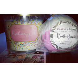 Charmed Aroma Birthday Cake Candle