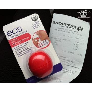 eos Organic Smooth Spheres Lip Balm in Summer Fruit