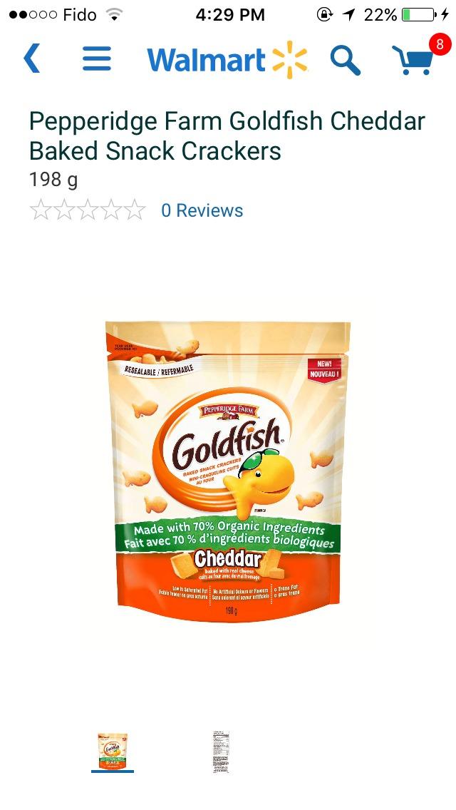 Pepperidge Farm Organic Goldfish, Cheddar reviews in