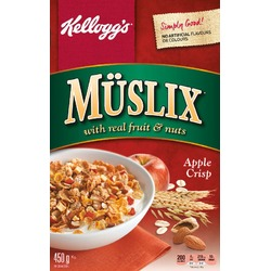 Muslix With Real Fruit And Nuts Apple Crisp
