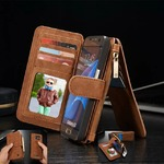 CaseMe Zippered Leather Phone Wallet