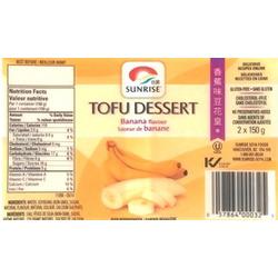 Sunrise Tofu Dessert Banana Flavour