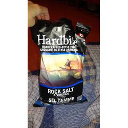 Hardbite Rock Salt & Vinegar Chips