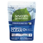Seventh Generation Dishwasher Detergent Packs - Free & Clear (20ct)