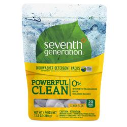 Seventh Generation Dishwasher Detergent Packs - Lemon (20ct)