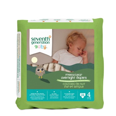 Seventh Generation Free & Clear Overnight Diapers (Stage 4)