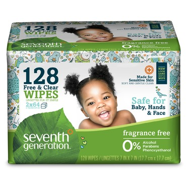 Seventh Generation Free & Clear Baby Wipes (64ct)