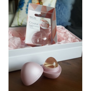 eos Crystal Lip Balm in Hibiscus Peach