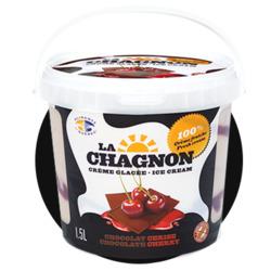 crème glacée la Chagnon aux chocolat cerise
