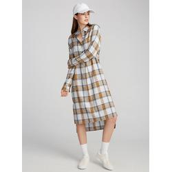 TWIK Utilitarian checker shirtdress