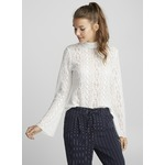 TWIK Openwork medallion mock-neck top