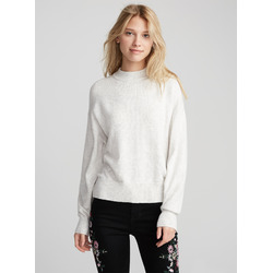 TWIK Merino-touch mock neck sweater