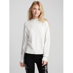 TWIK Merino-touch mock neck sweater