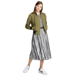 TWIK Metallic pleated skirt