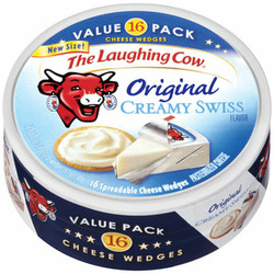 The Laughing Cow Original Creamy Swiss Cheese Wedges (16 count) 12 oz