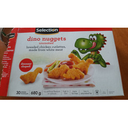 Selection dino nuggets