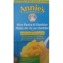 Annie's Gluten Free Rice Pasta & Cheddar Macaroni & Cheese