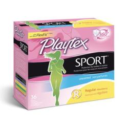 Playtex® Sport™ Regular Unscented Tampons