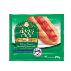 Zabiha Halal Original Chicken Wieners