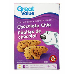 Great value soft cookies chocolate chip