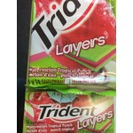 Trident Layers Watermelon Tropical Punch Gum
