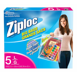 Ziploc brand Big Bags Large