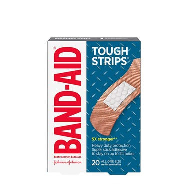 BAND-AID® Brand Adhesive Bandages Tough Strips®, 20 count