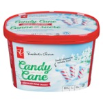 President's Choice Candy Cane Fudge Crackle Ice Cream