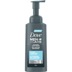Dove Men+Care Clean Comfort Foaming Body Wash