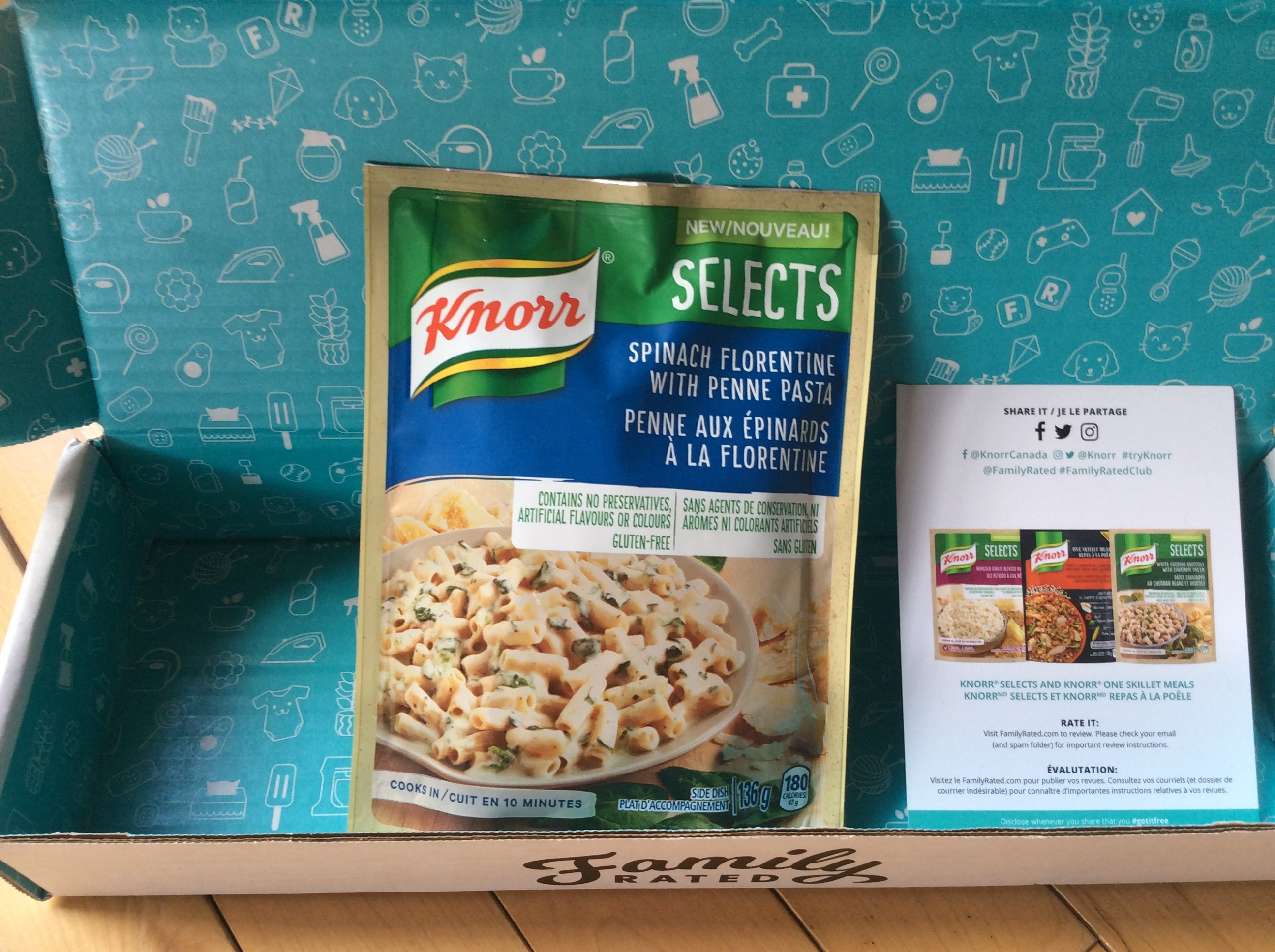 Knorr Selects Spinach Florentine With Penne Pasta Reviews