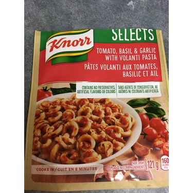 Knorr Selects Tomato, Basil & Garlic with Volanti Pasta