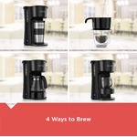 BLACK+DECKER 4-in-1 5 Cup Station Coffeemaker