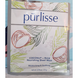 PURLISSE BEAUTY Coconut + Rice Nourishing Treatment Sheet Mask