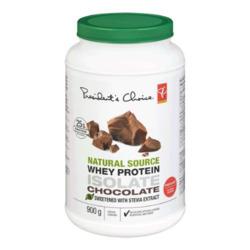 President's Choice Whey Isolate Protein Powder Chocolate