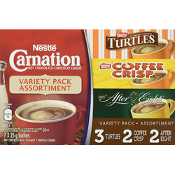 CARNATION Flavoured Hot Chocolate Variety Pack - Turtles, Coffee Crisp, After Eight
