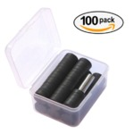 ExcelbuysStrong Round Magnets, Set of 100 units , 80 Ceramic(ferrite) + 20 Metal (neodymium)