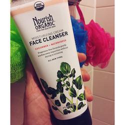 Nourish organic Cucumber + watercress face cleanser