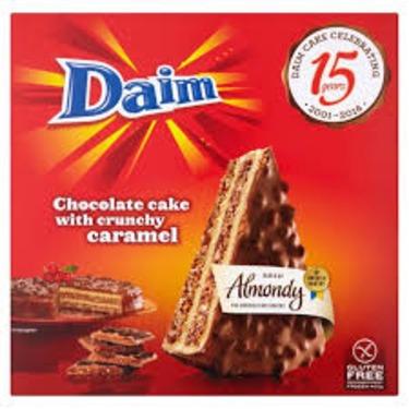 DAIM Chocolate Cake with crunchy caramel