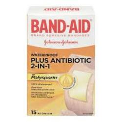 Band-Aid Waterproof Plus Antibiotic 2-in-1 with Polysporin