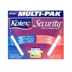 Kotex Security Tampons - Multi-Pak