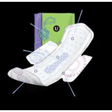 U by Kotex AllNighter Overnight Pads with Wings