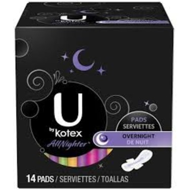 U by Kotex AllNighter Overnight Pads with Wings reviews in