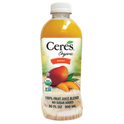 Ceres Organic 100% Fruit Juice Blend: Mango
