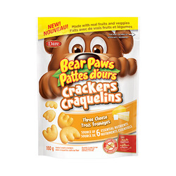 Bear Paws Crackers Three Cheese