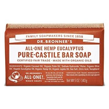 dr bronners eucalyptus pure-castile bar soap