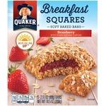 Quaker Breakfast Squares Soft Baked Bars Strawberry
