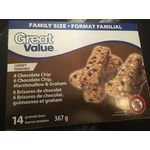 Great Value Chewy Granola Bars - Variety Pack