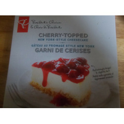 presidentschoice cherry-topped new york-style cheesecake