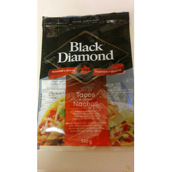 Black Diamond tacos and nachos shredded cheese