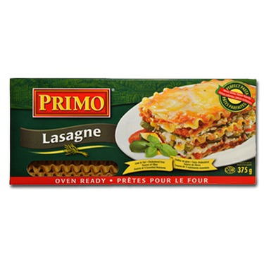 Primo Lasagne Oven Ready Reviews In Pasta Pasta Sauces